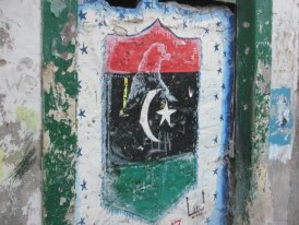 Pride in the new Libyan flag is found throughout Tripoli.