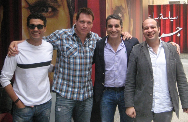 Khalid El Nabawy, Holt McCallany, Bassem Youssef, and Ahmed Maher.